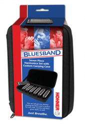 Hohner Bluesband Harmonica Package, Set of 7, Keys A, Bb, C, D, E, F, G